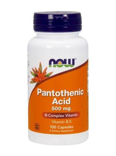 Now Foods Pantothensäure 500 mg 100 Kapseln