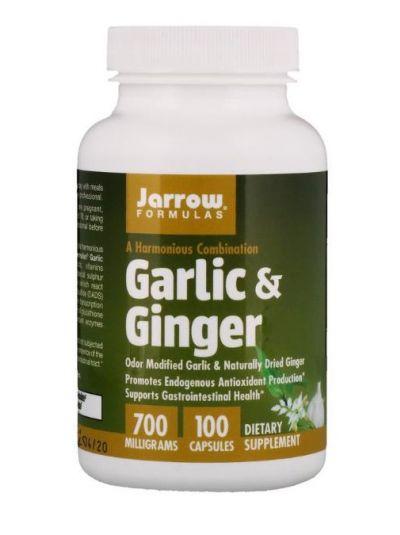 Jarrow Formulas Knoblauch & Ingwer 700 mg 100 Kapseln