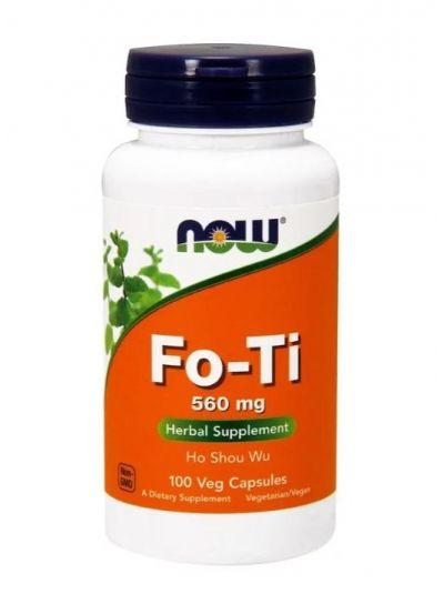 Now Foods Fo-Ti Ho Shou Wu Foti 560 mg 100 Veg-Kapseln