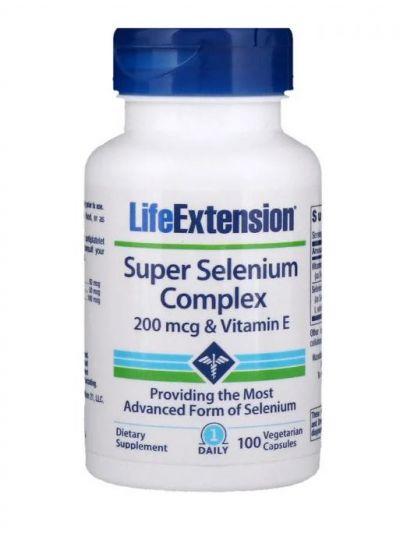 Life Extension Super Selen-Komplex 200 mcg und Vitamin E 100 vegetarische Kapseln
