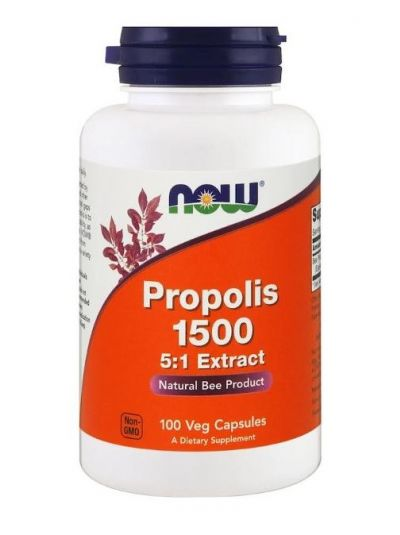 Now Foods Propolis 1500, 100 Veg Kapseln