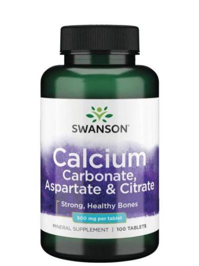 Swanson Triple Calcium Complex (Carbonate, Aspartate and Citrat) 500 mg 100 Tabletten