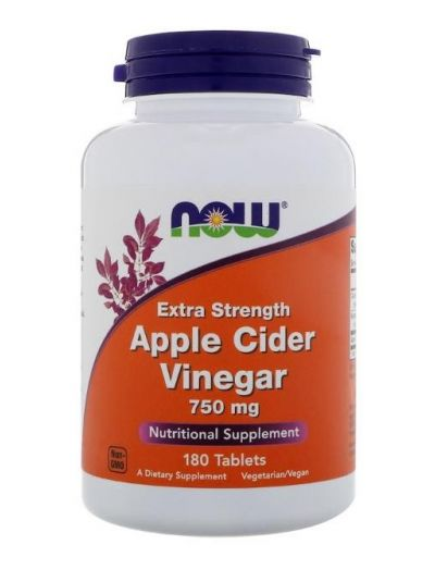 Now Foods, Apple Cider Vinegar, Extra Stark, 750 mg, 180 Tabletten