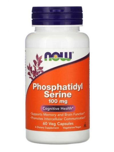 Now Foods, Phosphatidyl Serine (mit Inositol und Cholin), 100 mg, 60 Veg Kapseln