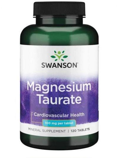 Swanson Magnesium Taurat 100 mg 120 Tabletten
