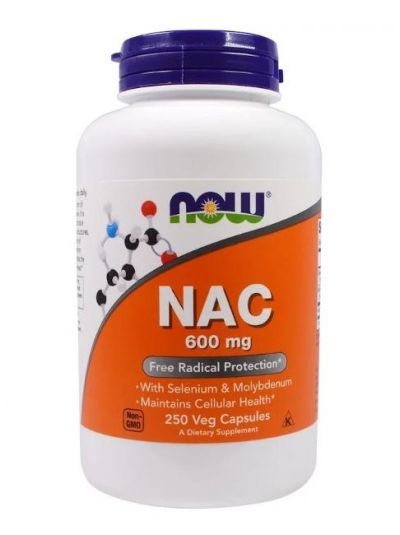 Now Foods NAC 600 mg 250 Veggie-Kapseln
