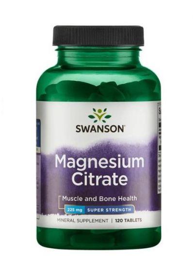Swanson Magnesium citrat Hoch-dosiert 225 mg 120 Tabletten