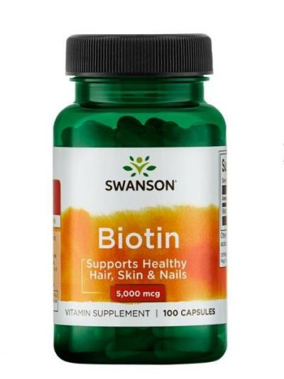 Swanson Biotin 5.000 mcg 100 Kapseln