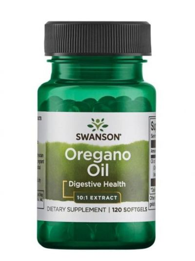 Swanson Premium Oregano Öl 10:1 Extract 120 Softgels