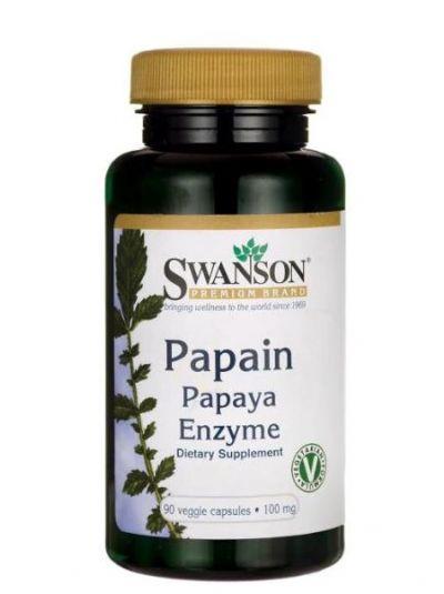 Swanson Papain Papaya Enzyme 100 mg 90 Kapseln
