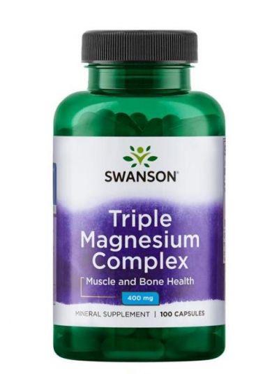 Swanson Triple Magnesium Komplex 400 mg 100 Kapseln