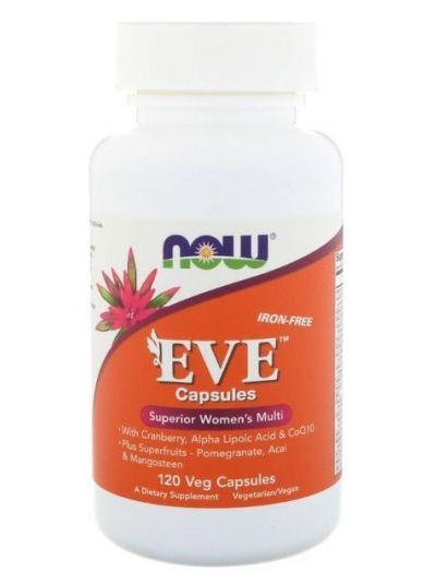 Now Foods Eve Womens Multiple Vitamin (Ohne Eisen) 120 vegetarische Kapseln