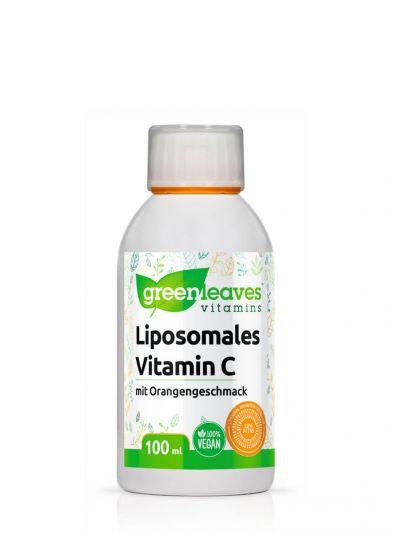 Green Leaves Liposomales Vitamin C mit Orangengeschmack 100 ml