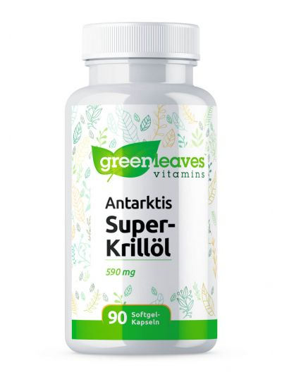 GREEN LEAVES ANTARKTIS SUPER KRILLÖL 590 MG 90 SOFTGEL-KAPSELN