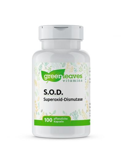 Green Leaves SOD SUPEROXID DISMUTASE 2000 MFU 100 kapseln