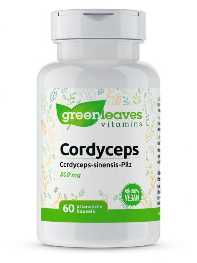 Green Leaves Cordyceps 800 mg 60 vege Kapseln
