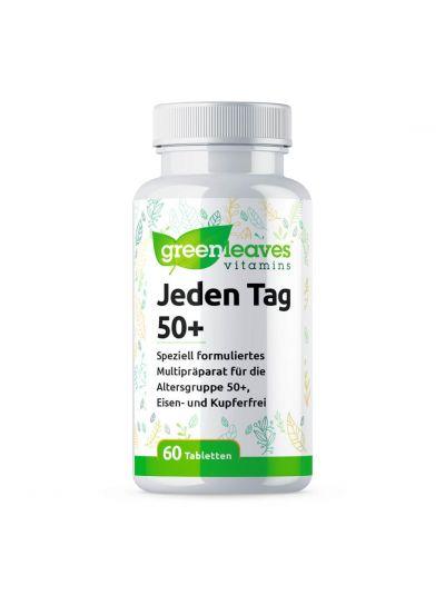 Green Leaves JEDEN TAG 50+ ohne Eisen und Kupfer 60 Tabletten