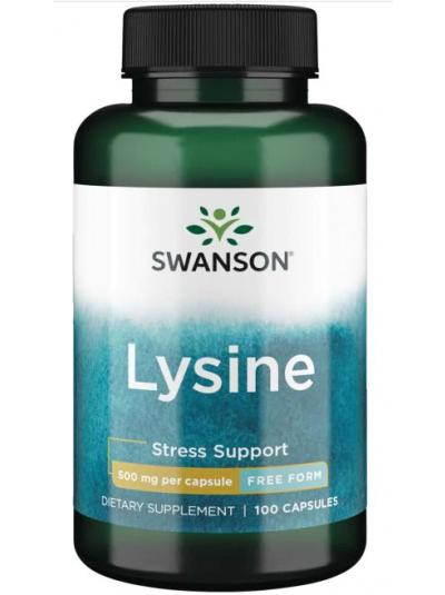 Swanson Premium - L-Lysin - Freie Form - 500 mg, 100 Kapseln