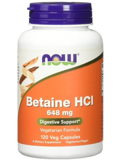Now Foods Betain HCL, 648 mg, 120 Kapseln