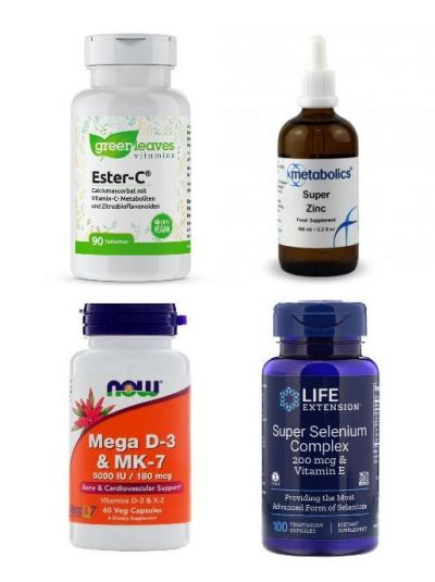 Immunpaket 1 (m. Zink, Ester-C, Selen-Komplex, Vitamin D und Vitamin K)