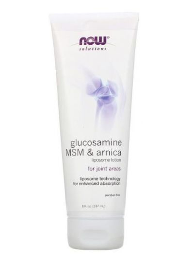 Now Foods, Glucosamine, MSM & Arnica, Liposome Lotion, 237 ml