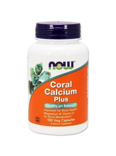 Now Foods Koralle Kalzium Plus 100 Kapseln