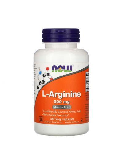 NOW Foods L-Arginine, 500 mg, 100 Kapseln