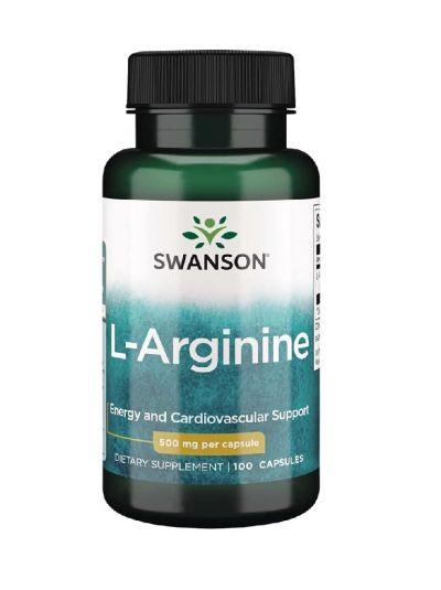 Swanson L-Arginine, 500 mg, 100 Kapseln