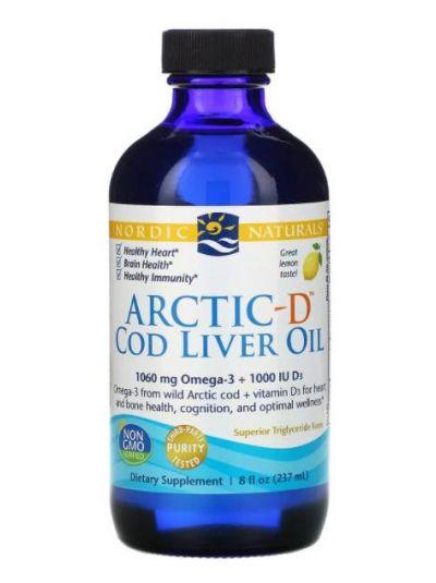Nordic Naturals Lebertran Arctic-D, Zitrone, 237 ml