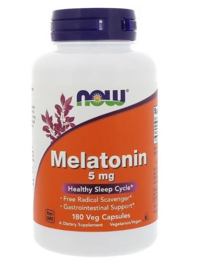 Now Foods Melatonin 5 mg 180 Vegetarische Kapseln