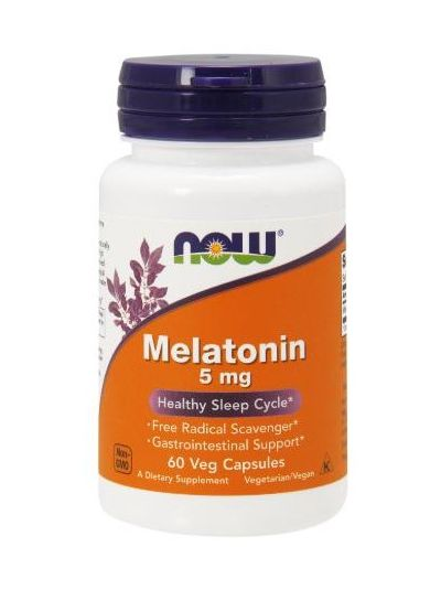 Now Foods Melatonin 5 mg 60 Vegetarische Kapseln