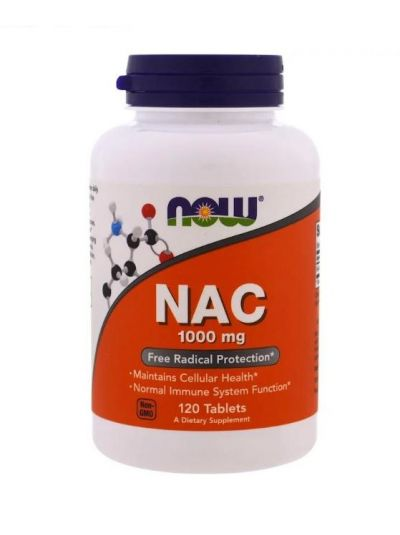 Now Foods NAC 1000 mg 120 Tabletten