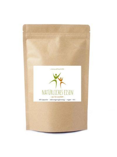 Vitalundfitmit100 Natürliches Eisen aus Bio Currybaumblättern 60 Kapseln à 600 mg