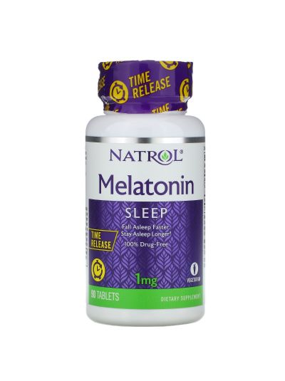 Natrol Melatonin Time Release, 1 mg, 90 Tabletten