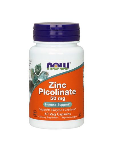 Now Foods ZINK PICOLINATE 50MG 60 Veg Kapseln