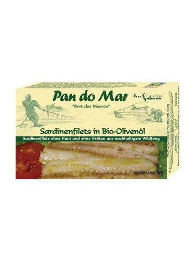 Pan do Mar Sardinenfilets in BIO Olivenöl 90 g