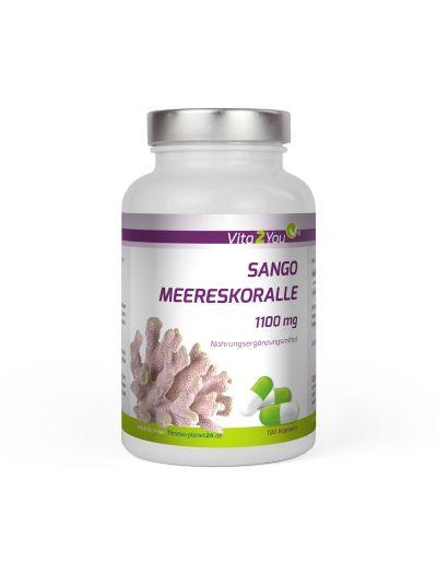 Vita2You Sango Meereskoralle - Natürliches Kalzium und Magnesium 1100mg 180 Kapseln