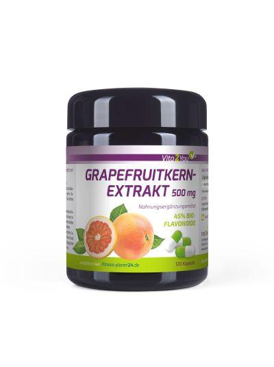 Vita2You Grapefruitkernextrakt 45% Bio-Flavonoide 500mg 120 Kapseln