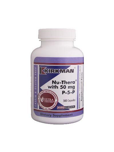 Kirkman Labs Nu-Thera® mit 50 mg P-5-P Hypoallergen - 300 Kapseln