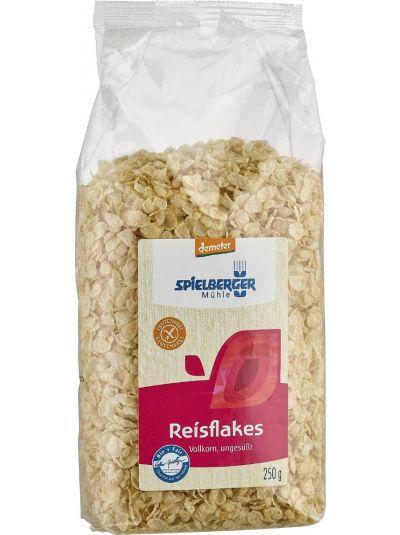 SPIELBERGER MÜHLE Reisflakes aus Vollkornreis ungesüßt BIO demeter glutenfrei 250g
