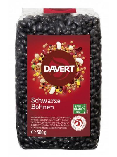 Davert Schwarze Bohnen Fair Trade IBD 500g