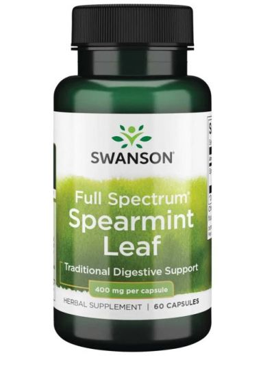 SWANSON PREMIUM-FULL SPECTRUM SPEARMINT LEAF 400MG 60 KAPSELN