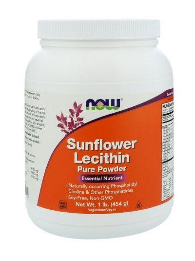 Now Foods Sonnenblumenlecithin reines Pulver 454 g