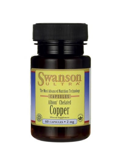 Swanson Kupfer Chelatisiert / Elementares 2 mg 90 Kapseln