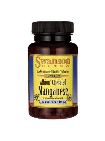 SWANSON Mangan CHELATISIERT / ELEMENTARES 10 MG 180 KAPSELN