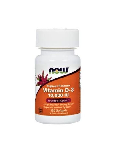 Now Foods Vitamin D-3 10.000 IU 120 Softgel-Kapseln