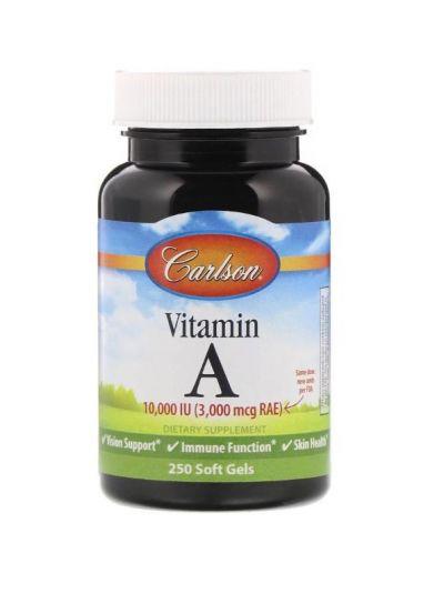 Carlson Labs Vitamin A Retinylpalmitat 10,000 IU  250 Soft Gels