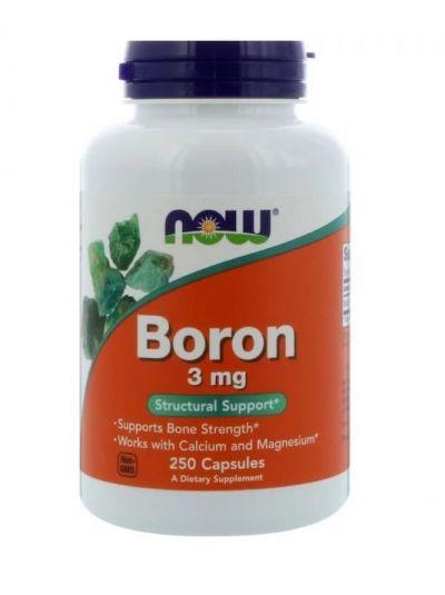Now Foods Bor 3 mg, 250 Kapseln