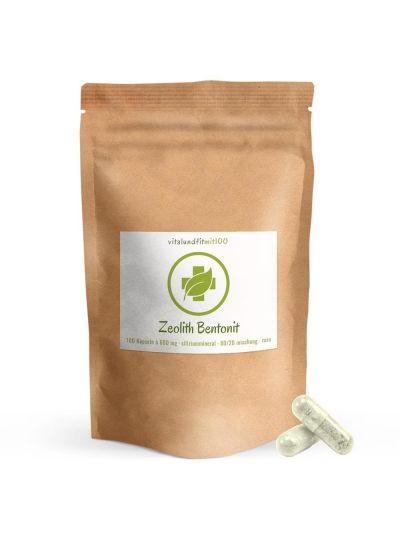 Zeolith-Bentonit Kapseln (80% Naturzeolith, 20% Bentonit) 100 Kapseln à 600 mg
