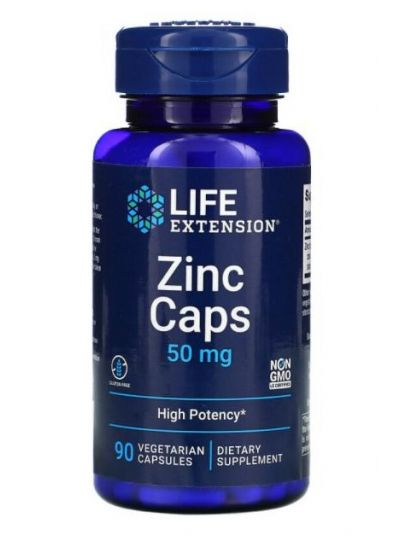 Life Extension Zinkkapseln, hochwirksam, 50 mg, 90 Veggiekapseln